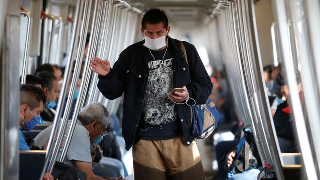 El metro de la CDMX en plena pandemia.