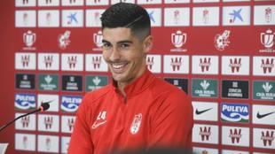 Carlos Fernández en una imagen de esta temporada.