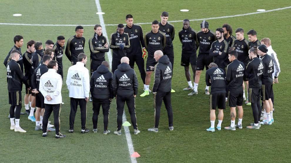 Imagen de archivo de un entrenamiento del Madrid.
