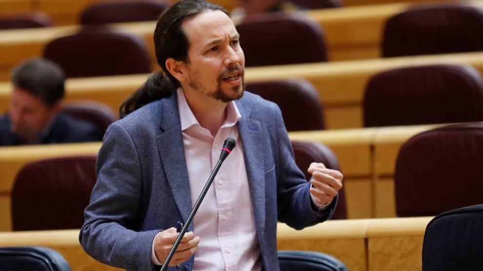 Pablo Iglesias expuso ayer las medidas para el desconfinamiento de los...