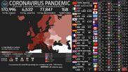 Datos del Covid-19: Mapa en tiempo real de todo el mundo