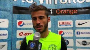 Pablo de Lucas, durante una 'flash interview'.