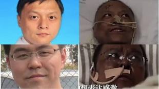 Imagen de los médicos chinos con la piel negra tras despertar del...
