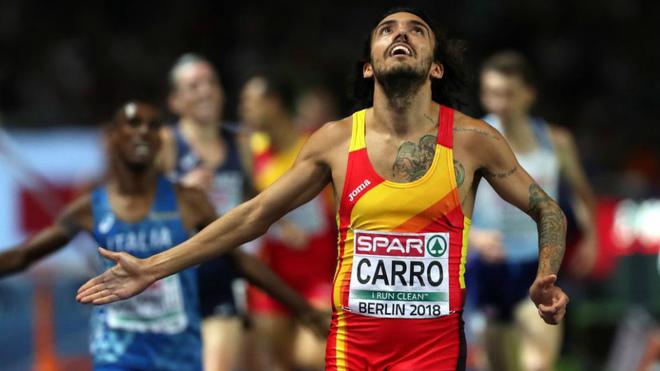 Fernando Carro llega segundo a la meta en los 3.000 obstáculos del...