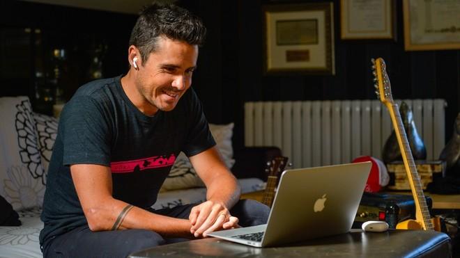 Javier Gómez Noya, durante la entrevista