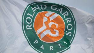 La bandera de Roland Garros