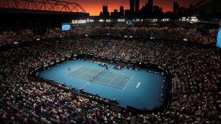 Una vista aérea de la Rod Laver Arena