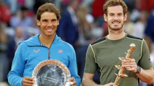 Rafa Nadal y Andy Murray, finalistas en Madrid en 2015.