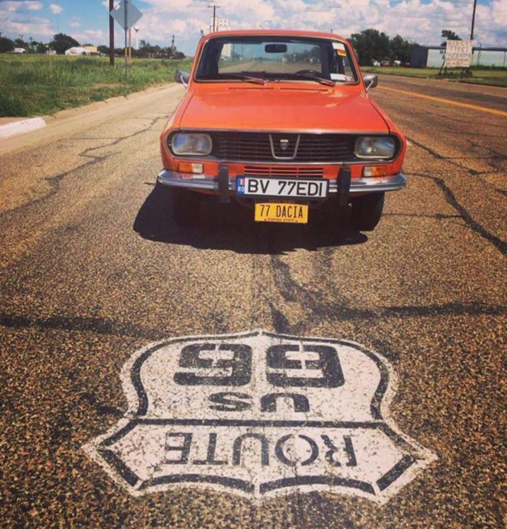 El Dacia 1300 en la mítica Ruta 66: la completó a pesar de los...