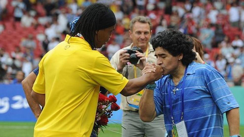 Ronaldinho and Maradona.