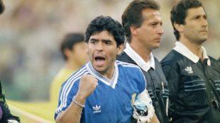 Diego Armando Maradona, en el Mundial de 1990.