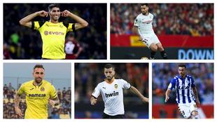 Los cinco futbolistas que participarán en el torneo Fortnite