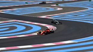 Leclerc precede a Hamilton en el circuito Paul Ricard.