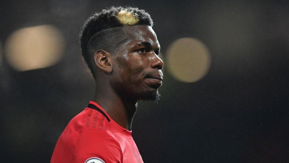 Pogba, en un partido con el United.