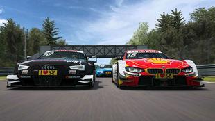 Un Audi y un BMW del DTM.
