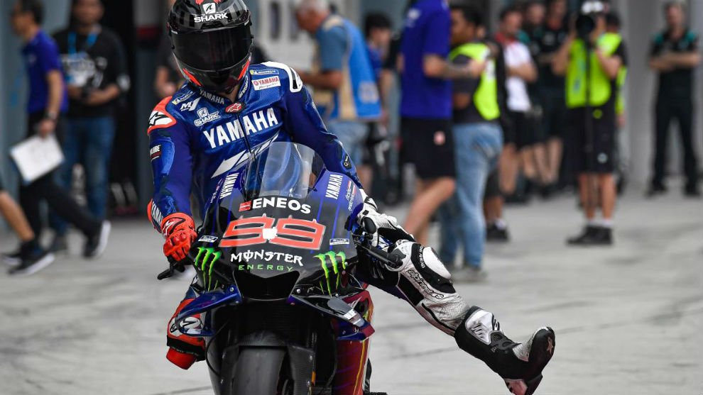 Jorge Lorenzo, en su test con Yamaha.