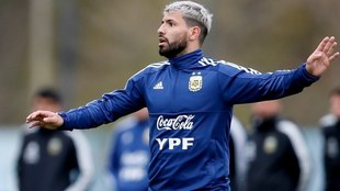 Kun Agüero con Argentina.