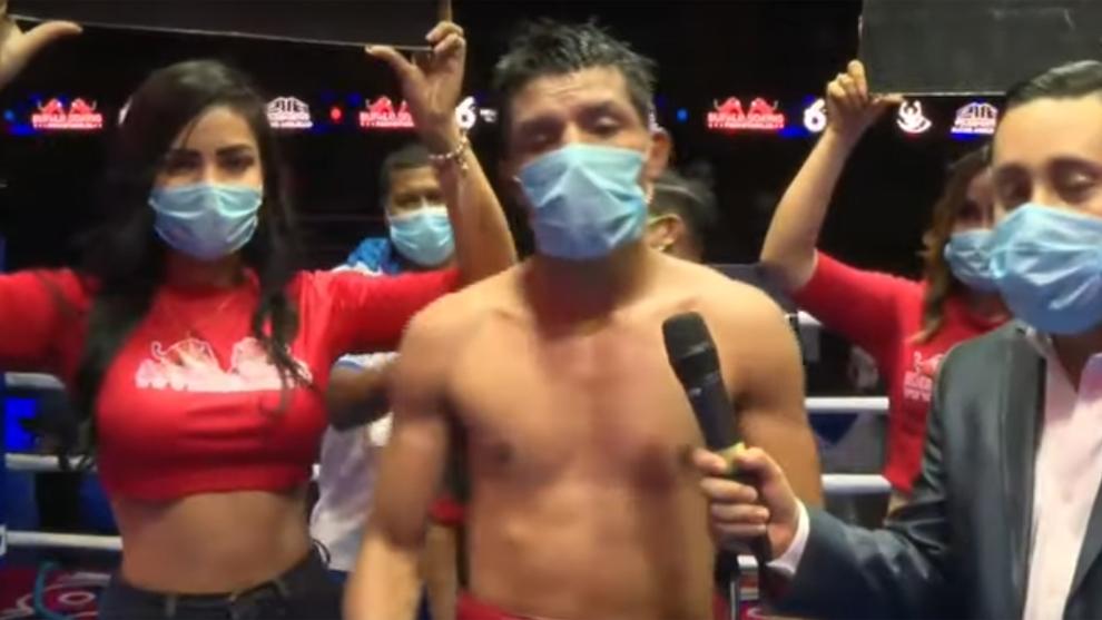 Velada de boxeo en Nicaragua en plena pandemia mundial del coronavirus