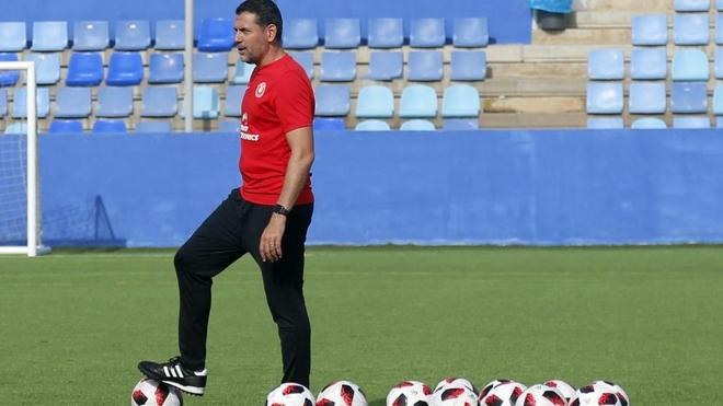 Andrés Palop durante un entrenamiento con el Ibiza.