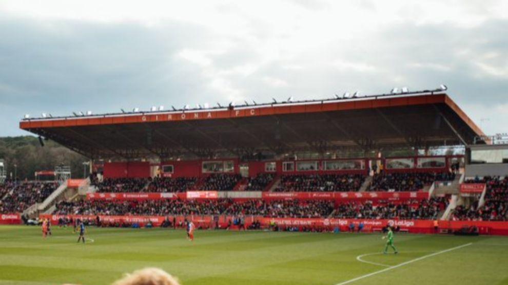 Una panorámica de Montilivi durante un partido del equipo rojiblanco