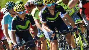 Nairo y Valverde durante su época en Movistar