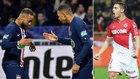 Neymar, Mbappé y Ben Yedder.