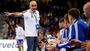 Juan Carlos Pastor, en el partido que jugó el Szeged en febrero en el...