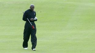 Michael Jordan jugando al golf en Valencia