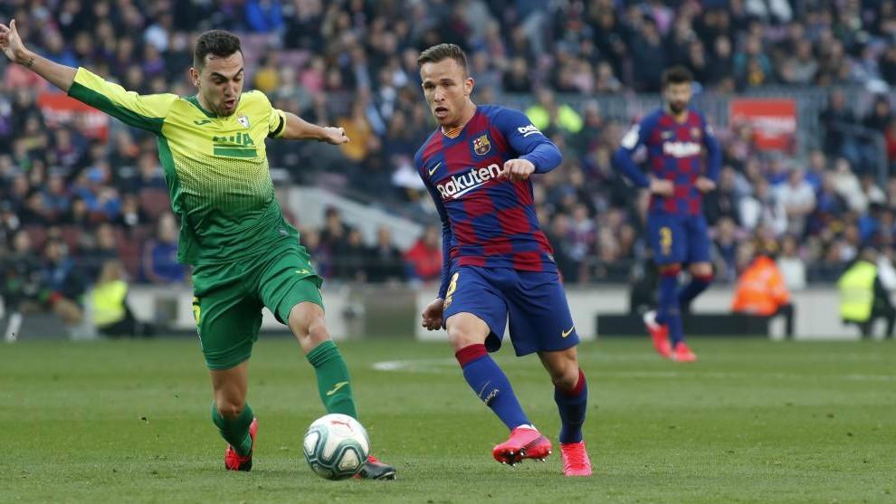 Arthur, en el partido ante el Eibar.
