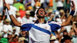 Djokovic al ganar en Miami en el 2011.