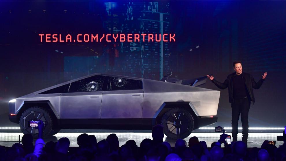 Musk, en la presentación del Cybertruck