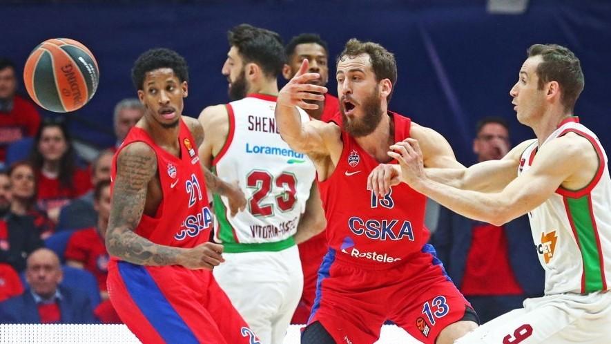 Sergio Rodríguez y Will Clyburn, en un partido con el CSKA frente al...