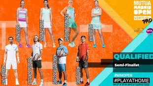 Los ocho semifinalistas del torneo en ambas categorías