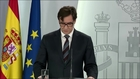 Salvador Illa, ministro de Sanidad, en directo para hablar de las...
