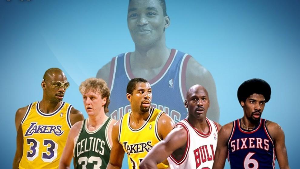 Montaje de Fadeaway World sobre los cinco mejores jugadores de la...
