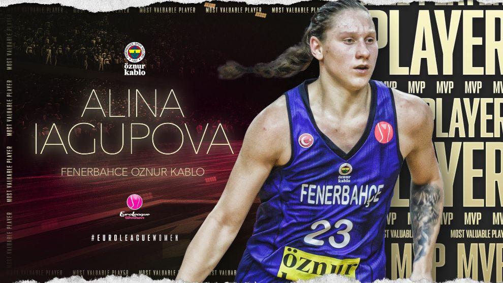Alina Iahupova, del Fenerbahce, elegida MVP de la Euroliga femenina