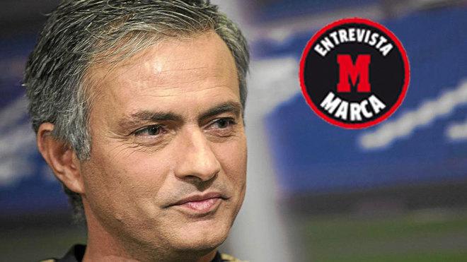 José Mourinho, durante una entrevista con MARCA