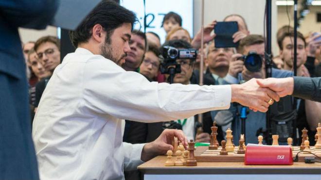 Hikaru Nakamura, en una partida.