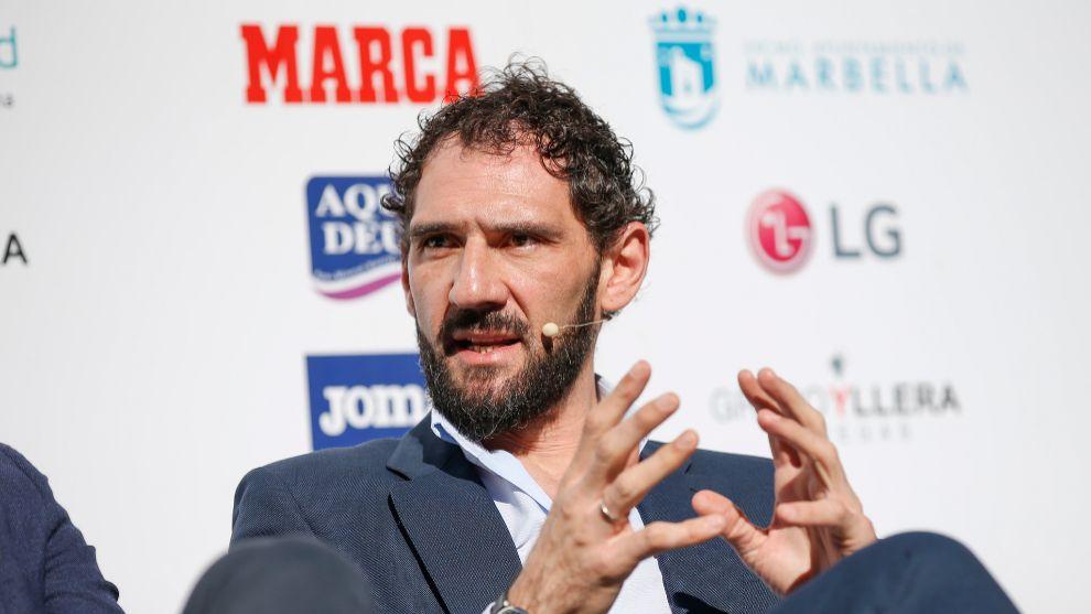 Jorge Garbajosa, en el Marca Sport Weekend de Marbella.