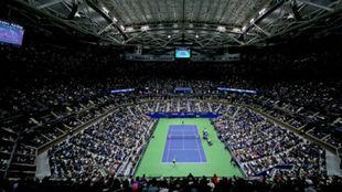 Una imagen aérea de la central Arthur Ashe de Nueva York