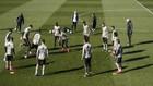 Los jugadores del Real Madrid, en un entrenamiento en Valdebebas