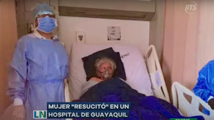 Alba Maruru en el hospital.