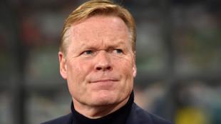 Ronald Koeman, en el banquillo de la selección holandesa.
