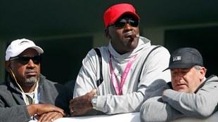 Michael Jordan en un torneo de golf, en Francia.