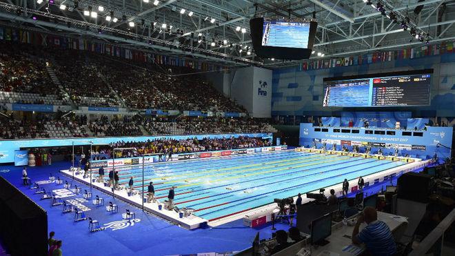 Una imagen del Danube Arena de Budapest, sede de los Mundiales de 2017