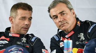 Sainz y Loeb durante el Dakar 2018.