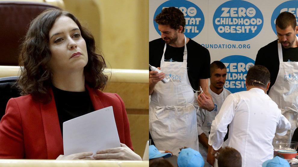 La Fundación Gasol, molesta con el menú infantil de Telepizza y Rodilla de Madrid