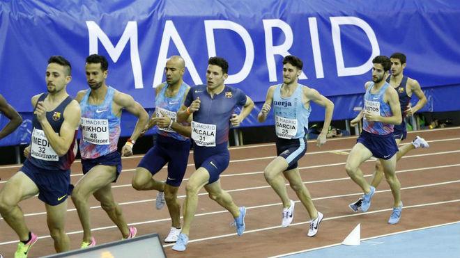 Competición en la pista municipal madrileña de Gallur.