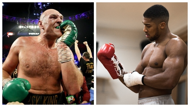 Tyson Fury y Anthony Joshua.