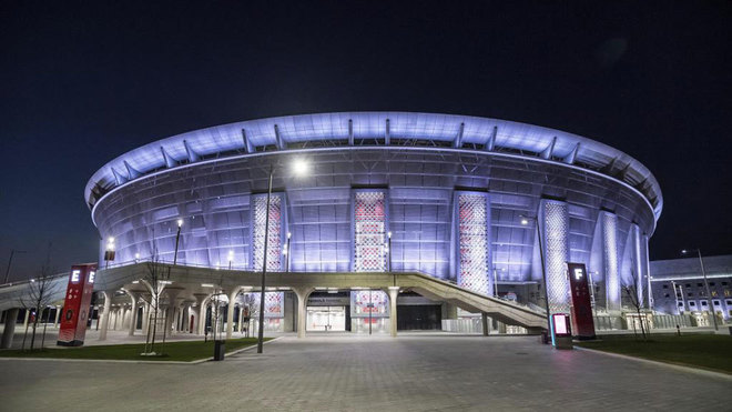 Imagen del Puskas Stadium de Budapest.